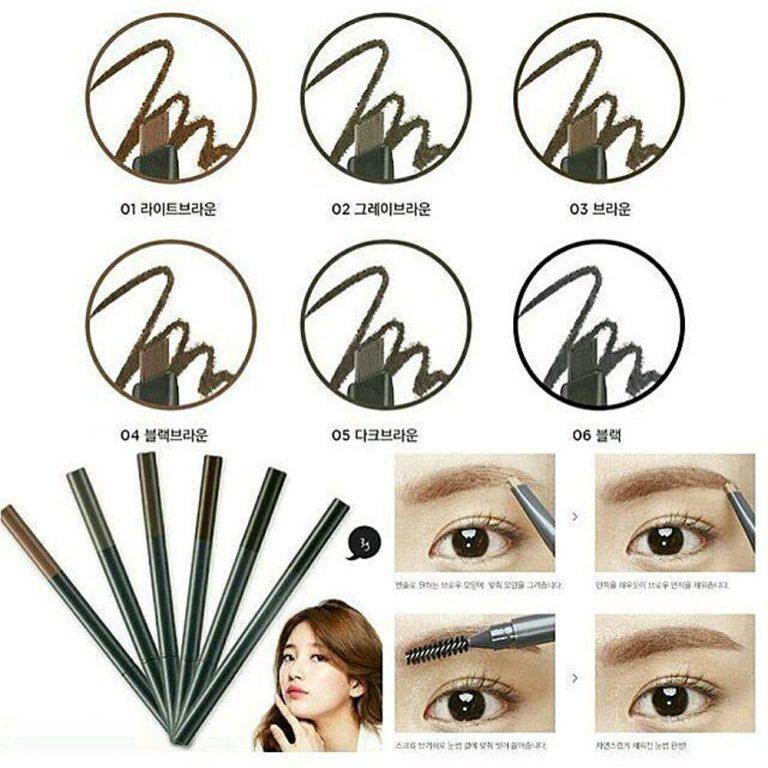 Review chì kẻ mày The Face Shop Designing Eyebrow Pencil