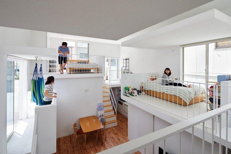 Mang phòng ngủ ra ban công, ngôi nhà ở Nhật này là sự kết hợp hoàn hảo của kiến trúc độc lạ nhưng tiện nghi